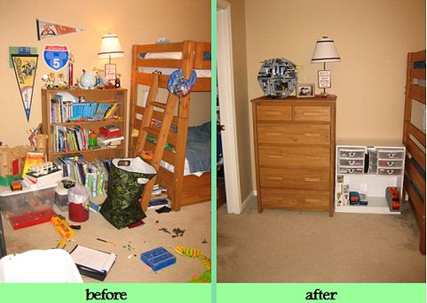 Kids Bedroom Organization kids room organization before & after pics