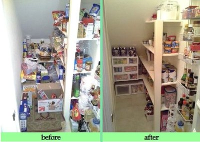 organization solutions for awkward pantries