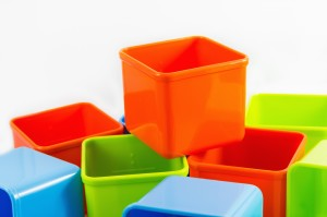 home organizers use containers
