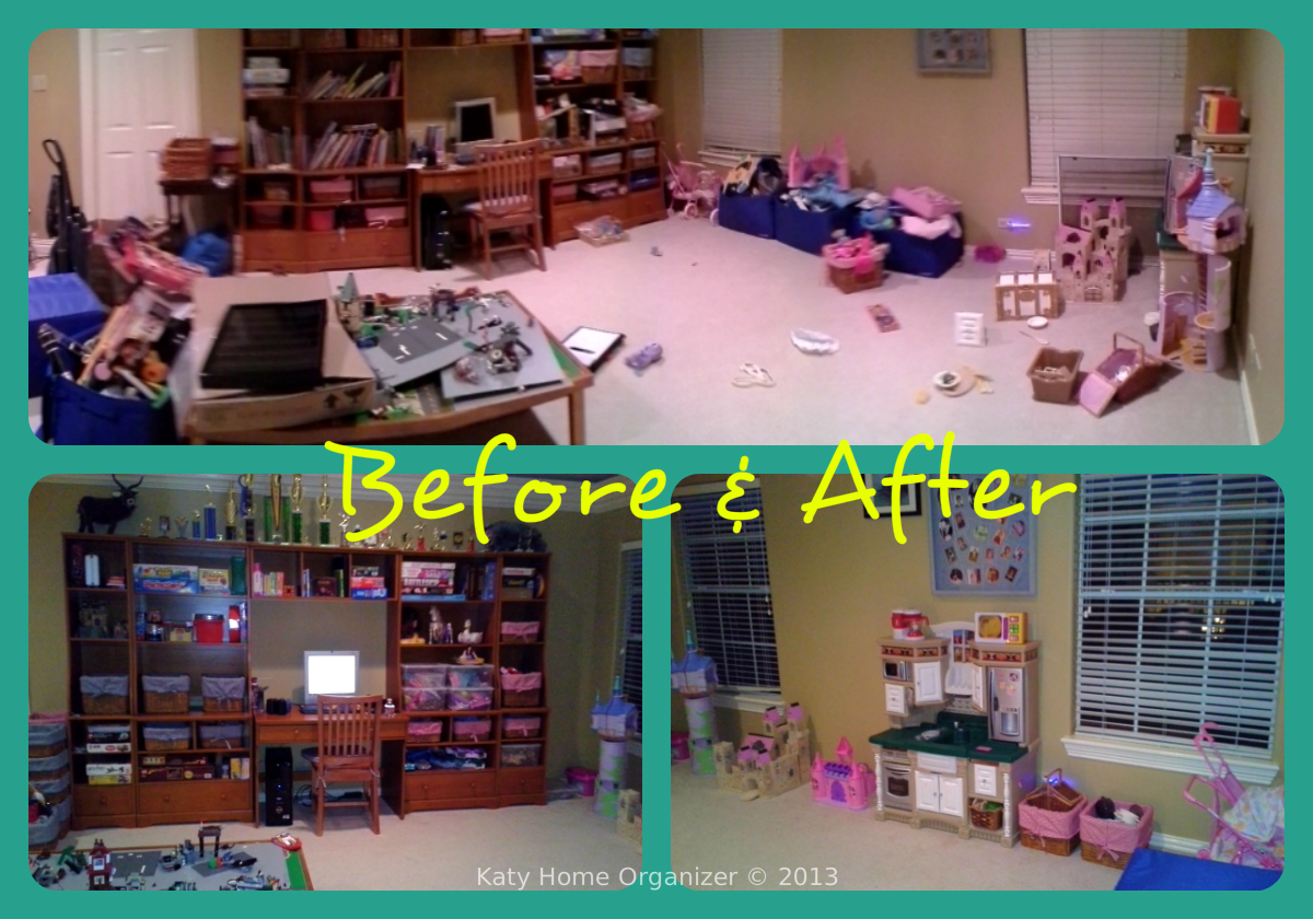 Playroom organization before after pics for Play room for kids