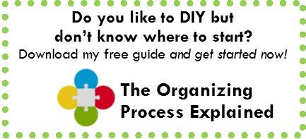 organizing do it yourself, organizing advice, how to organize, organizing help