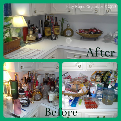 kitchen organization before & after pics