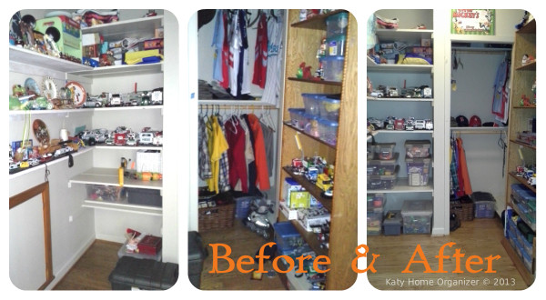 kids room organization before & after pics a Boys Room