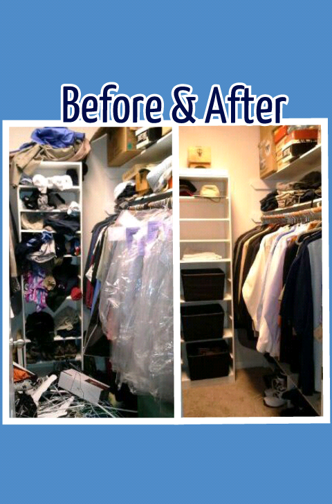 Organizing Before And After: Closet Organization Before & After Pics
