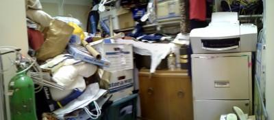 office storage closet before organization