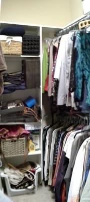 master closet before organizing picture
