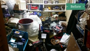 cluttered storage closets can become overwhelming to organize