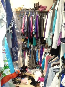Master closet organization is needed in this space.
