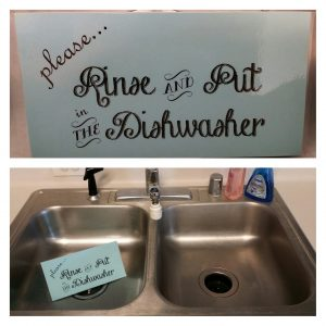 encouraging a clean sink