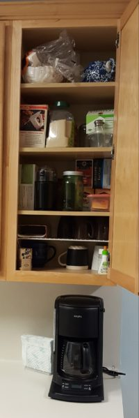 coffee organizing, kitchen organizing, kitchen organization, how to organize my kitchen